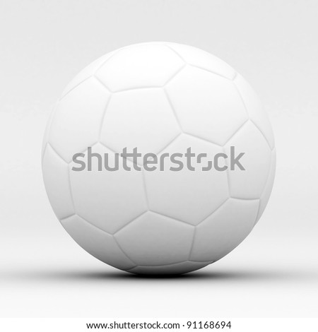 Picture a soccer ball - stock photo