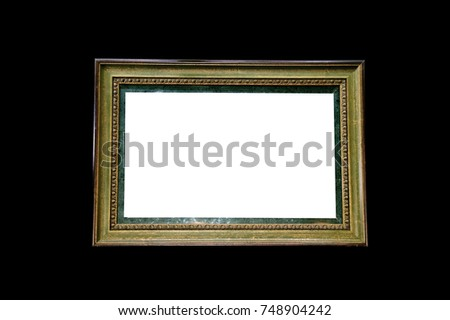 Picture Photo Frame Isolated On Black Stock Photo (Royalty Free ...