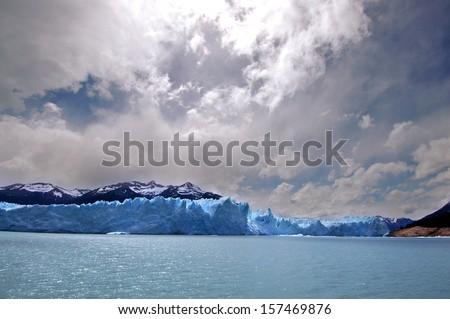 Picture captured in Perito Moreno Glacier in Patagonia (Argentina).  - stock photo