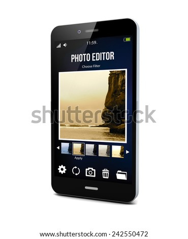 picture editor app on a smartphone screen