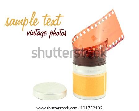picture film, vintage photos - stock photo