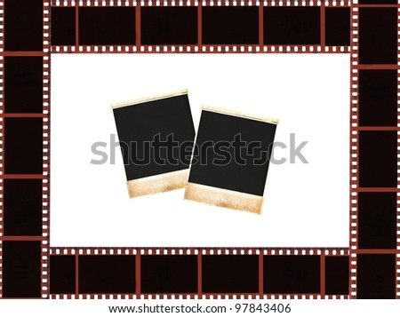 picture film, vintage photos,frame