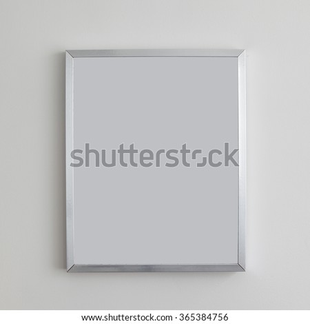Picture frame, empty frame isolated on a greywall