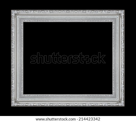 picture frame isolated on black background - stock photo