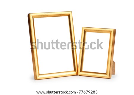 Picture frame isolated on the white background - stock photo