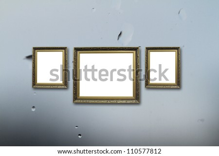 picture frame on wall to put your own pictures in.