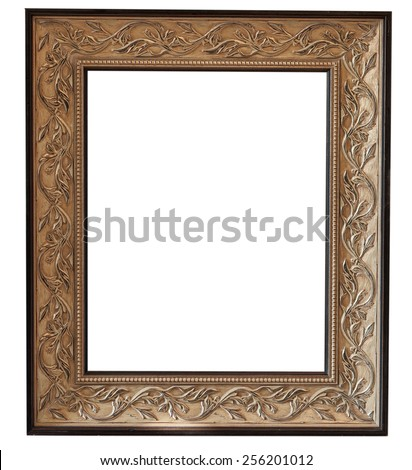 picture frame on white background - stock photo