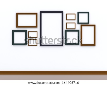 picture frame on whitewall