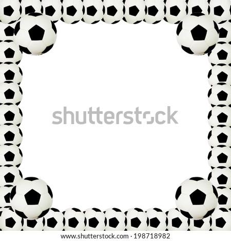 Picture Frame Soccer Ball White Stock Illustration 198718982 ...