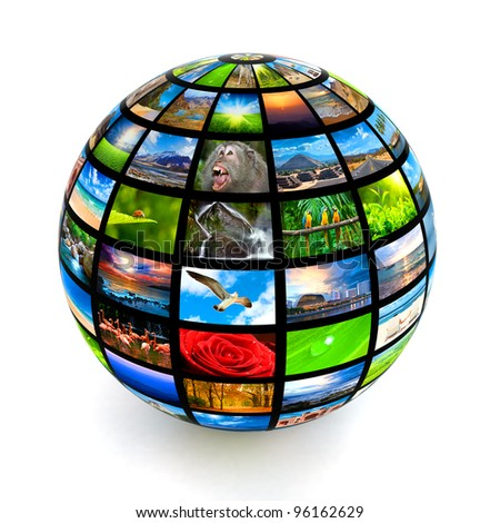Picture globe isolated - stock photo