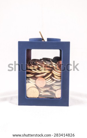 Picture of a Business Money Concept Idea Coins Container