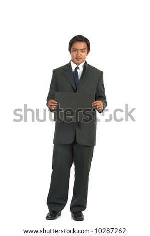 picture of a businessman over a white background - stock photo