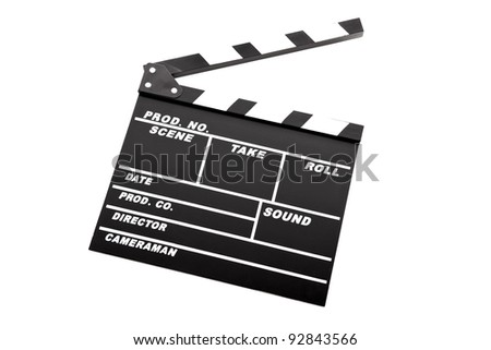 Picture of a Clapboard isolated on a white background - stock photo