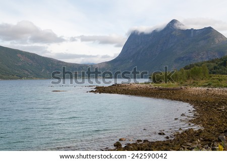 Picture of a fjord in norway