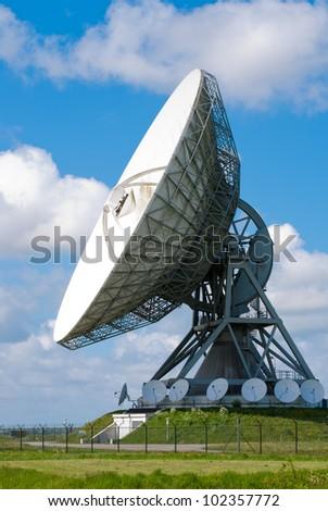 Picture  of a large satellite dish for transatlantic communication - stock photo