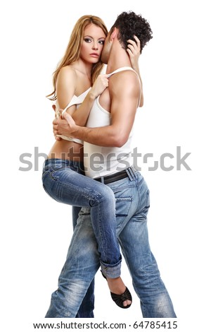 picture of a passionate couple - stock photo