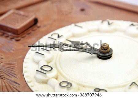 Picture of a Vintage wall clock . Time concept  - stock photo