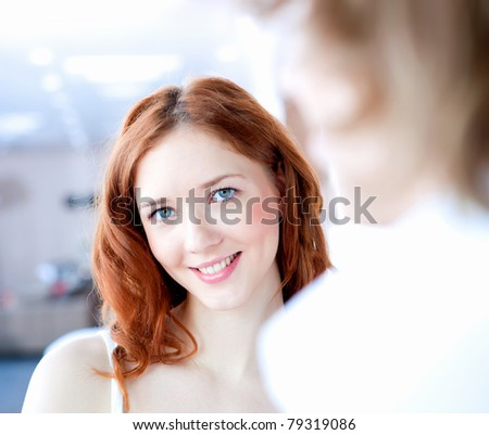 picture of a young couple in love together - stock photo
