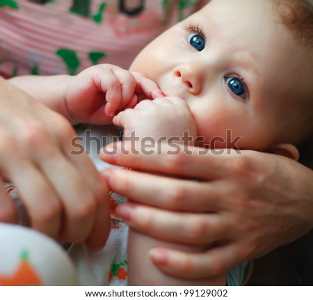 picture of adorable baby girl - stock photo