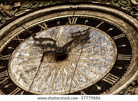 Picture of an antique clock - stock photo