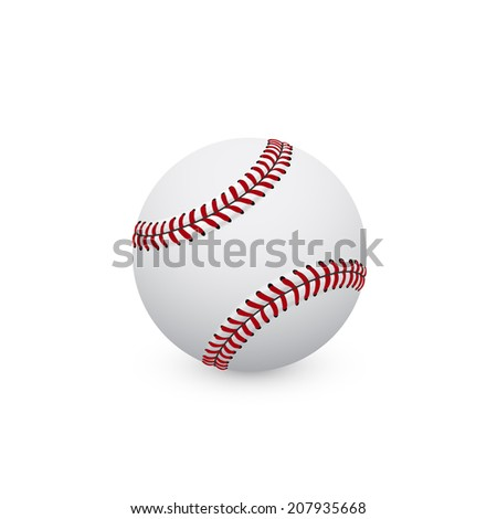 picture of baseball ball on white background