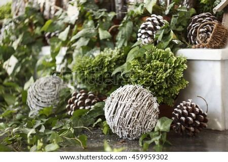 Picture of beautiful christmas interior decor