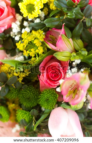 Picture of bouquet with flowers isolated on white