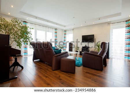 Picture of bright modern living room