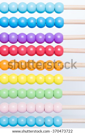 picture of colorful beads of wooden abacus