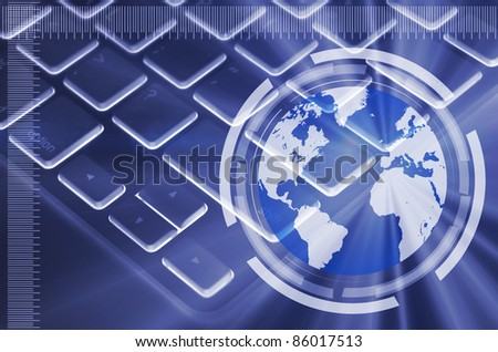 picture of computer keyboard as symbol of global network