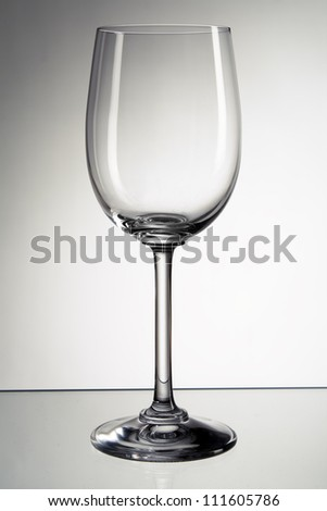 Picture of empty wine glass - stock photo