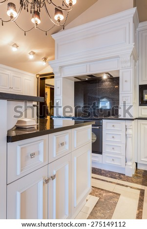 Picture of extravagant oven in new fashionable kitchen