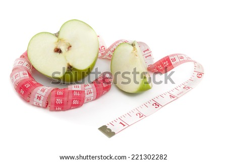 Picture of green apple and tape measure