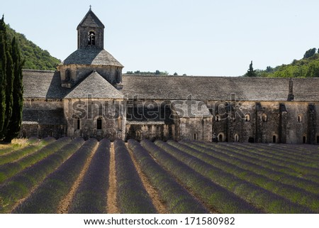 Picture of most famous landmark and most visit tourist site in Provence, France - stock photo