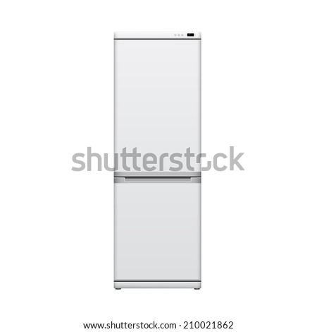picture of refrigerator on white background