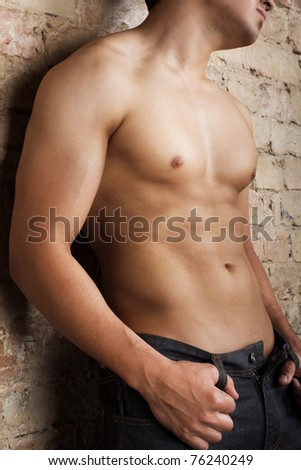 Picture of sexy body - stock photo