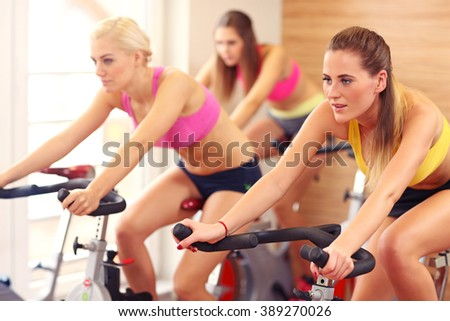 Picture of sporty women group  - stock photo