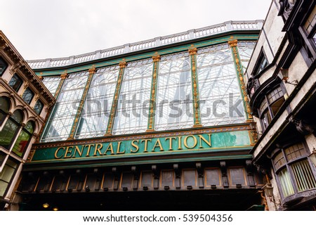 picture of the central station of Glasgow, Scotland, UK