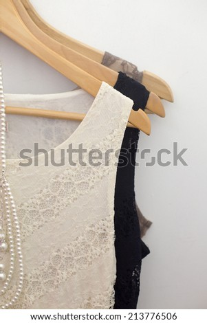 Picture of the clothes in the retail store - stock photo