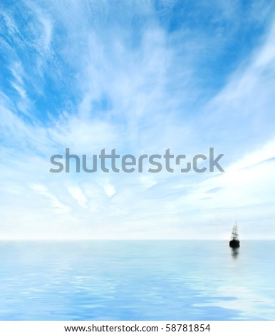 Picture of the sea - stock photo