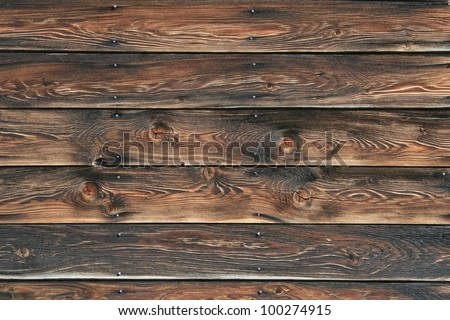 Picture of  well weathered, vintage wood siding( 5 Boards) with a few nails here and there. Boards length wise across frame, great texture./Texture, Vintage Wood Patina/ Great texture or background!