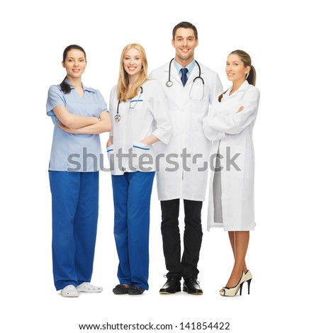 picture of young team or group of doctors