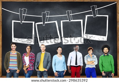Picture Photography Frame Image Creativity Concept - stock photo