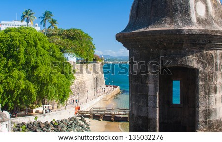 Picture taken in San Juan, Puerto Rico - stock photo