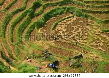 Pictures from the trip on the North of Vietnam. 09/2014 - stock photo