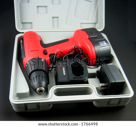 Pictures of a cordless, portable drill