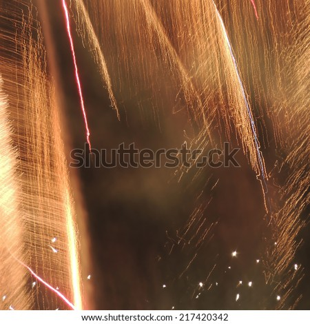 pictures of fireworks in the night sky