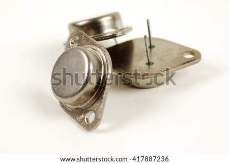 pictures of power transistors - stock photo