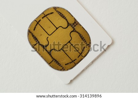 pictures of SIM cards used in cell phones
