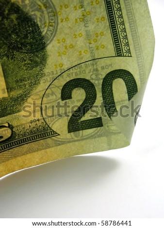 Pictures of twenty dollar US bills - stock photo
